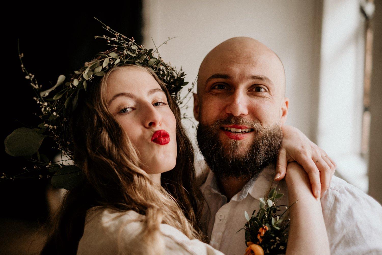 veganská svatba nevěsta a ženich