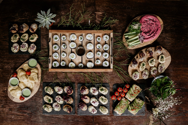 veganský catering na svatbu